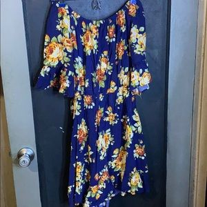 COPY - Off the shoulder floral dress